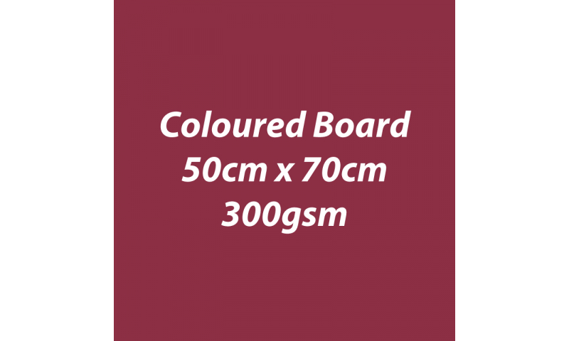 Heyda 100% Recycled Coloured Card  50x70mm 300 gsm barcoded 10 sh- Burgundy (New Lower Price for 2021)