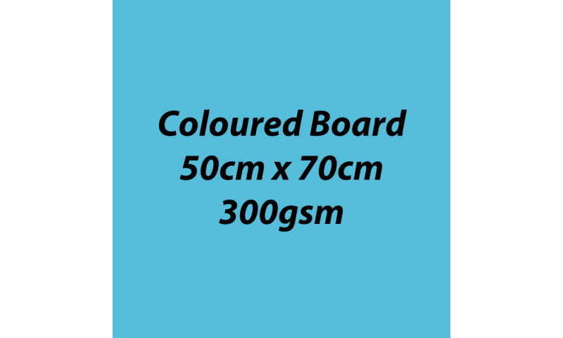 Heyda 100% Recycled Coloured Card  50x70mm 300 gsm barcoded 10 sh- Aqua (New Lower Price for 2021)
