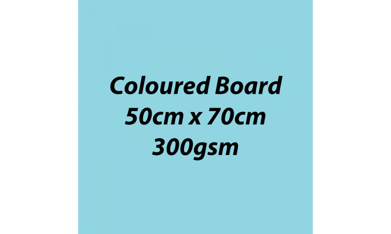 Heyda 100% Recycled Coloured Card  50x70mm 300 gsm barcoded 10 sh- Light Blue (New Lower Price for 2021)