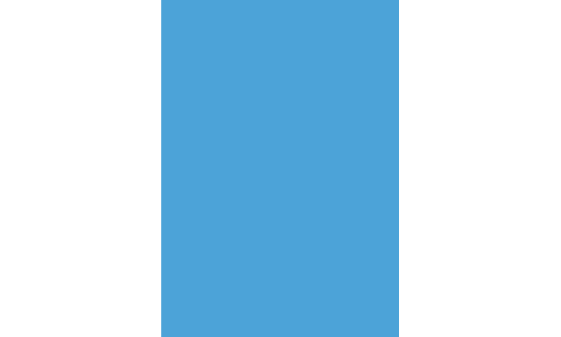 Heyda 100% Recycled Coloured Card  50x70mm 300 gsm barcoded 10 sh- Sky Blue (New Lower Price for 2021)