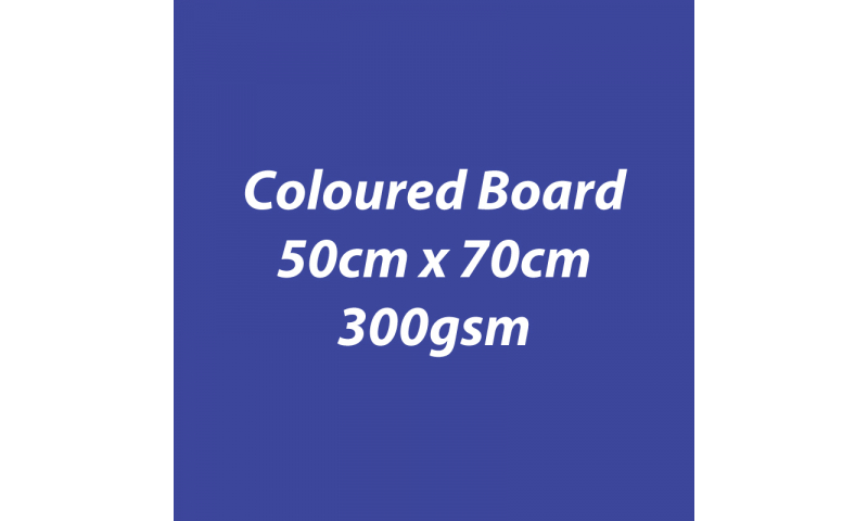Heyda 100% Recycled Coloured Card  50x70mm 300 gsm barcoded 10 sh- Royal Blue (New Lower Price for 2021)