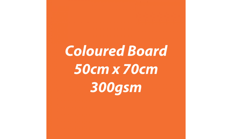 Heyda 100% Recycled Coloured Card  50x70mm 300 gsm barcoded 10 sh- Orange (New Lower Price for 2021)
