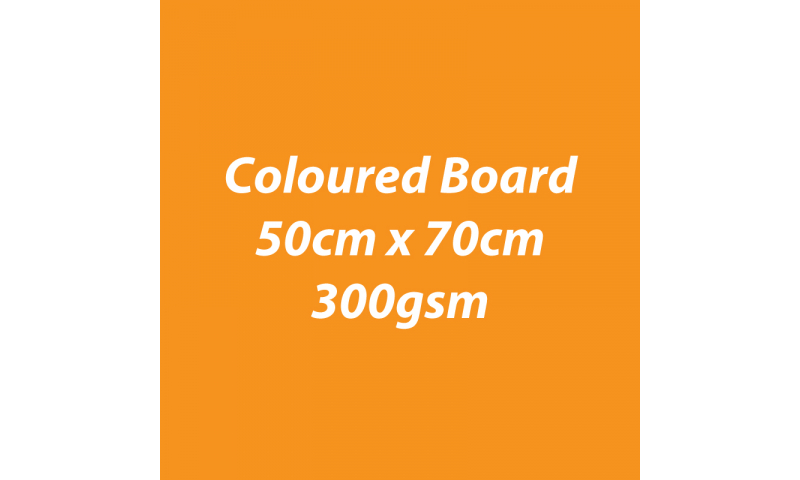Heyda 100% Recycled Coloured Card  50x70mm 300 gsm barcoded 10 sh- Pumpkin (New Lower Price for 2021)