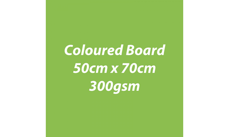 Heyda 100% Recycled Coloured Card  50x70mm 300 gsm barcoded 10 sh- Lime (New Lower Price for 2021)