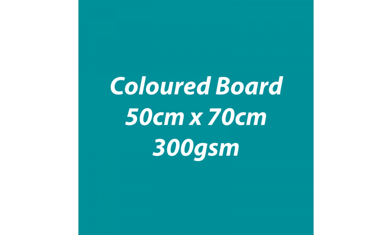 Heyda 100% Recycled Coloured Card  50x70mm 300 gsm barcoded 10 sh- Tourquoise (New Lower Price for 2021)
