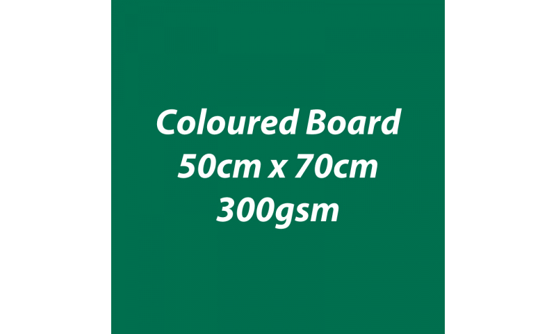 Heyda 100% Recycled Coloured Card  50x70mm 300 gsm barcoded 10 sh- Dark Green (New Lower Price for 2021)