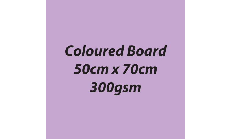 Heyda 100% Recycled Coloured Card  50x70mm 300 gsm barcoded 10 sh- Light Violet (New Lower Price for 2021)