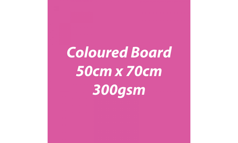 Heyda 100% Recycled Coloured Card  50x70mm 300 gsm barcoded 10 sh- Pink (New Lower Price for 2021)