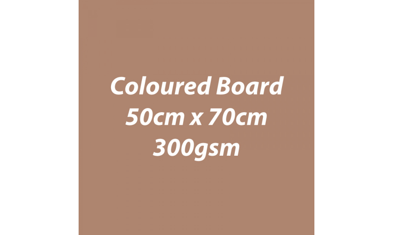 Heyda 100% Recycled Coloured Card  50x70mm 300 gsm barcoded 10 sh- Toffee (New Lower Price for 2021)