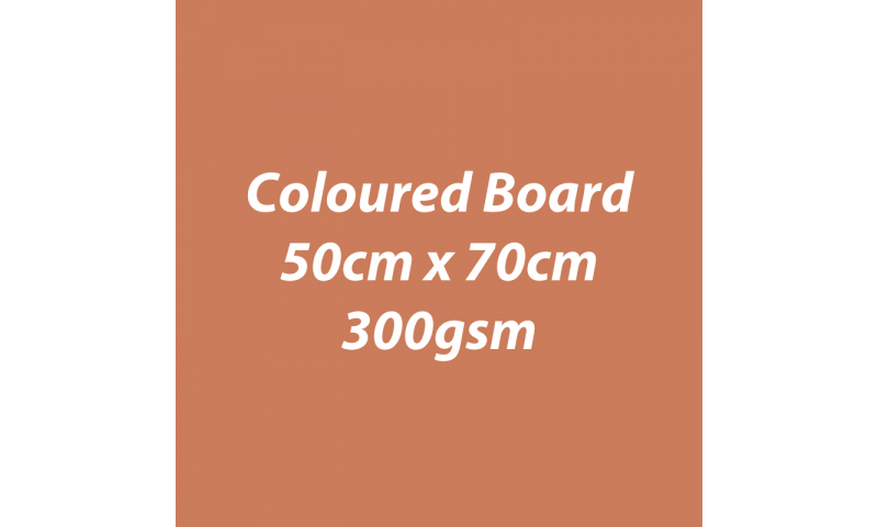 Heyda 100% Recycled Coloured Card  50x70mm 300 gsm barcoded 10 sh- Terracotta (New Lower Price for 2021)