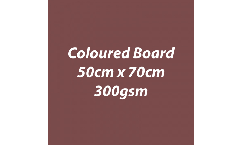 Heyda 100% Recycled Coloured Card  50x70mm 300 gsm barcoded 10 sh- Chocolate (New Lower Price for 2021)