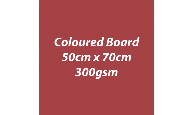 Heyda 100% Recycled Coloured Card  50x70mm 300 gsm barcoded 10 sh - Rust (New Lower Price for 2021)