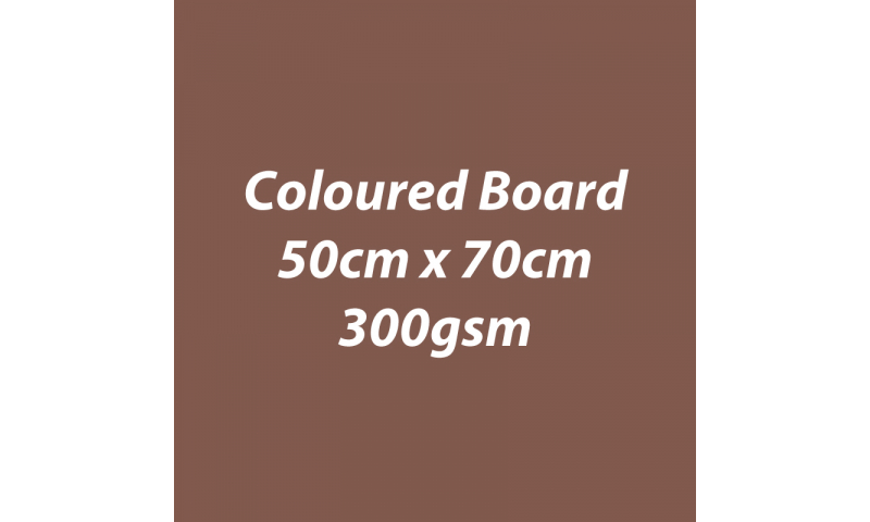Heyda 100% Recycled Coloured Card  50x70mm 300 gsm barcoded 10 sh- Brown (New Lower Price for 2021)