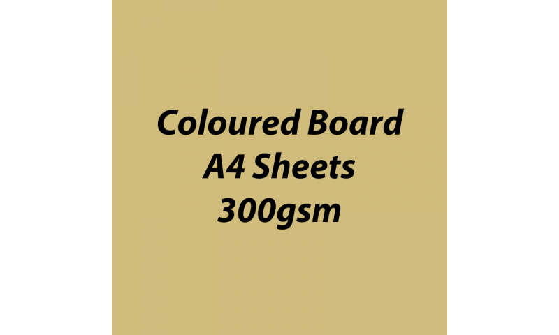 Heyda 100% Recycled Coloured Card  A4 300 gsm barcoded 50 sh-Glossy Gold