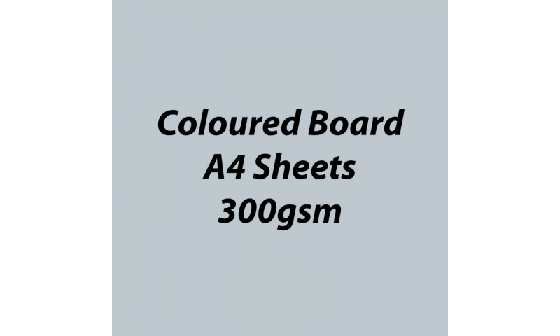 Heyda 100% Recycled Coloured Card  A4 300 gsm barcoded 50 sh-Glossy Silver