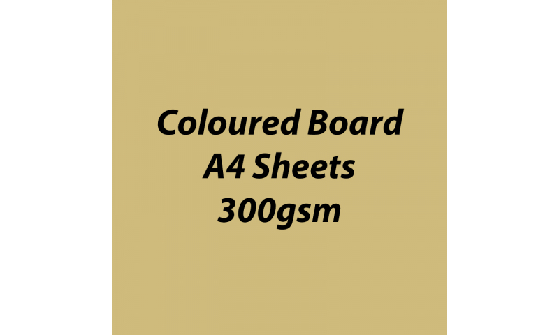 Heyda 100% Recycled Coloured Card  A4 300 gsm barcoded 50 sh-Matt Gold