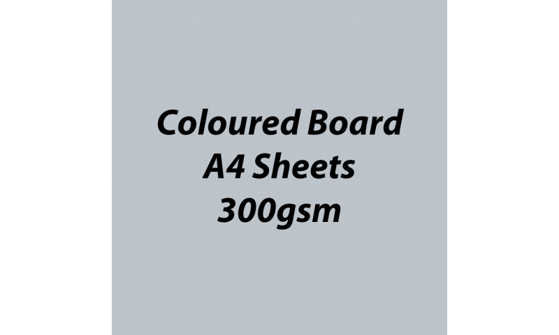 Heyda 100% Recycled Coloured Card  A4 300 gsm barcoded 50 sh-Matt Silver