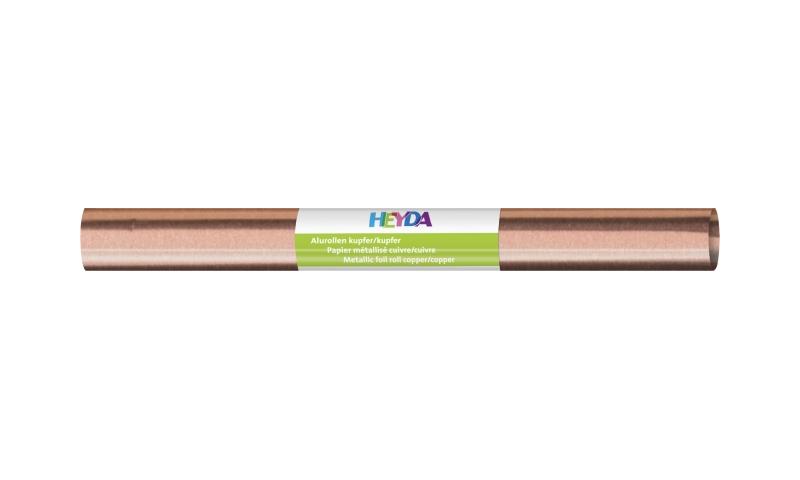 Heyda Aluminium Craft Foil  50 x 78cm Roll, 70gsm - Copper & Copper.  (New Lower Price for 2021)