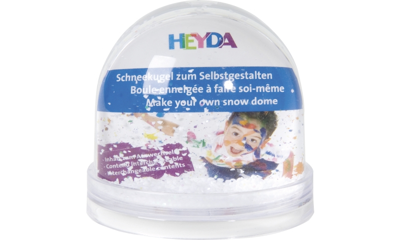 Heyda Small 9x8.5cm insertable Snow Globes