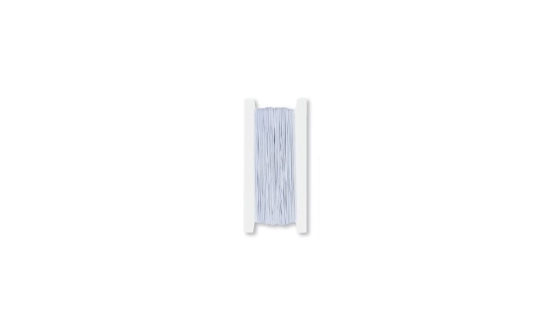 Heyda White Elastic Cord 25m, 1mm strong