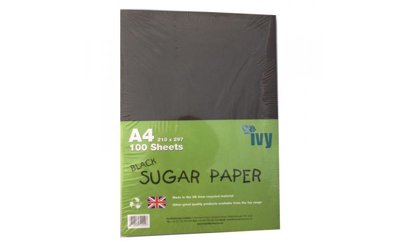 A4 Sugar Paper, Black, 100 sheets