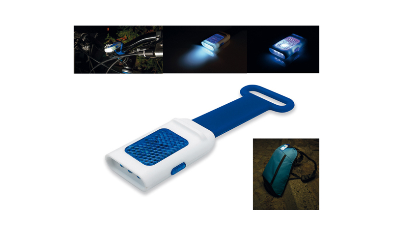 SEE Promotional plastic 4 LEDs Torch with Reflector and Flasher Function, 3 Lighting Levels