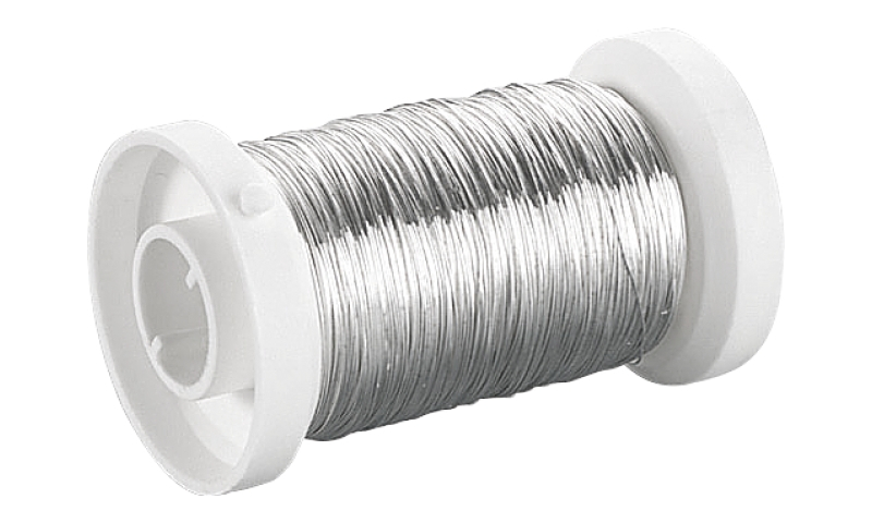 Heyda Plated Silver Crafting Wire, Spool 0.4mm x 40m