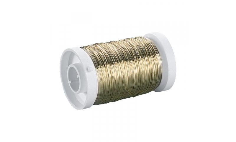 Heyda Plated Brass Crafting Wire, Spool 0.4mm x 40m