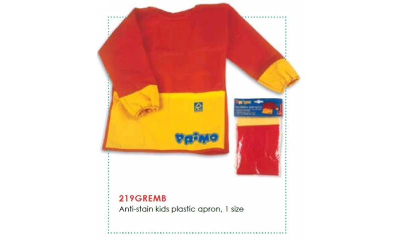 Primo Anti-stain kids plastic apron, 1 Size: On Special Offer