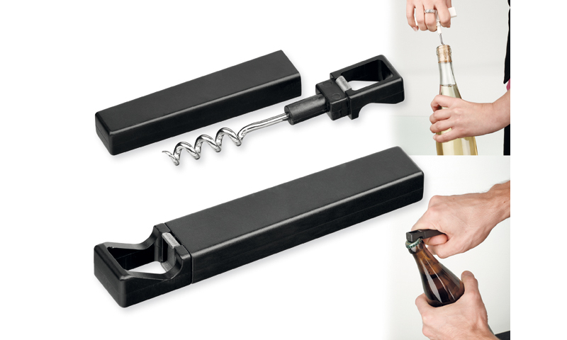 WINO Branded Multifunctional folding opener made of Metal & Plastic