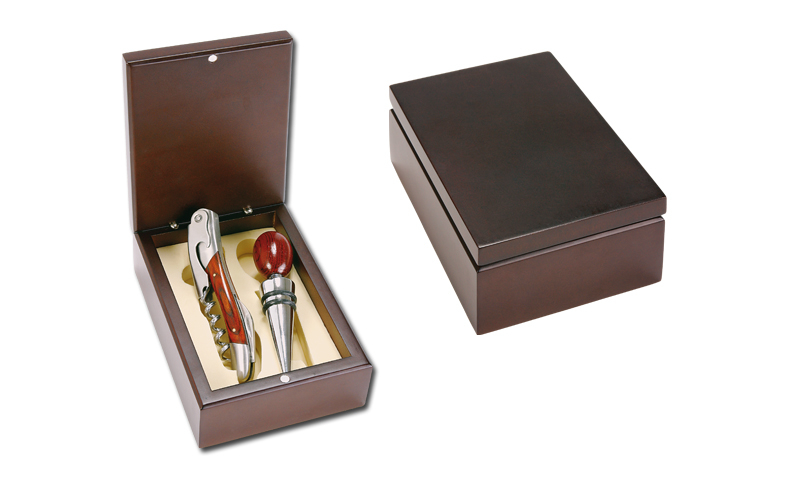 NEAPOL Branded Two Part Wine Set in Wooden Gift Box