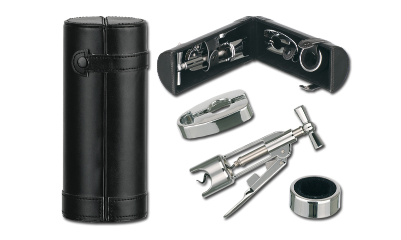 KATO Branded Three part Wine Set in Imitation Leather Case