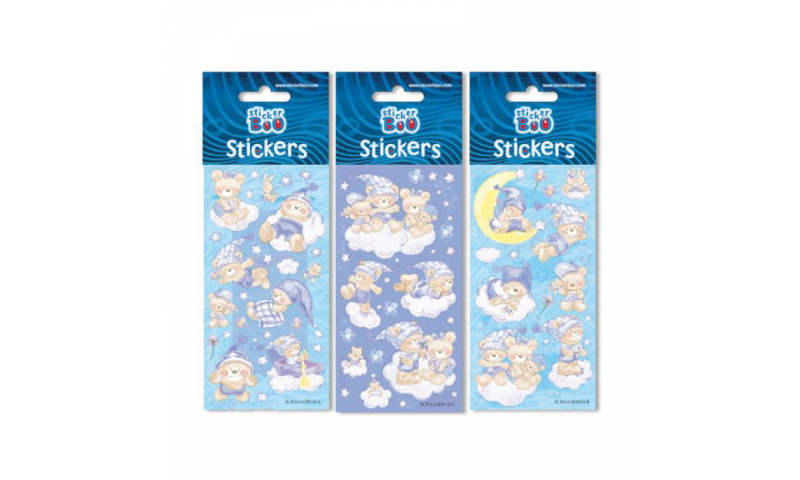 Starpak Teddies Bedtime Sticker Sheet 3 Asstd