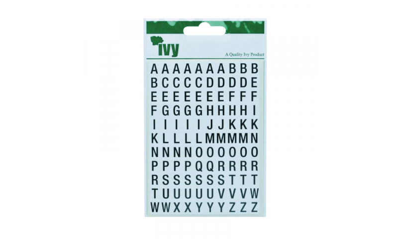 IVY Stickers Black Letters 220  Stickers 8x10 mm