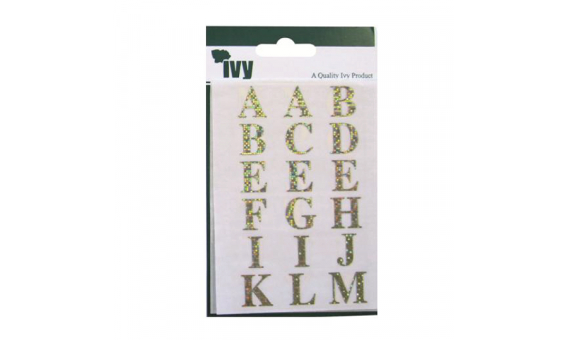 IVY Stickers Holographic Letters 84  Stickers 23x18 mm