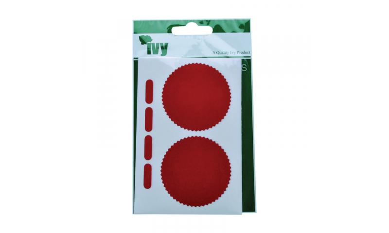 IVY  Red Company Seals 8 Labels per pk 50mm Diameter