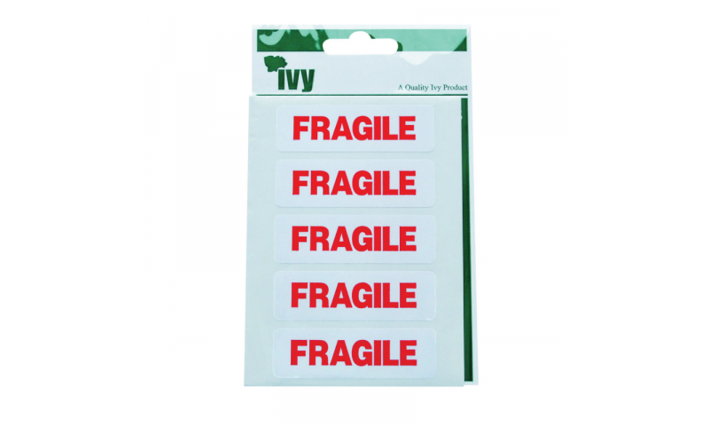 IVY  Fragile Stickers 35 Labels per pk 19x63 mm