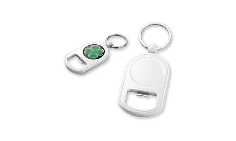 GALTON Branded Plastic Keyring with Bottle Opener