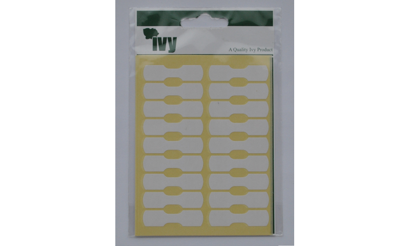 IVY White Dumbell Labels 105 per Pk 19x25mm