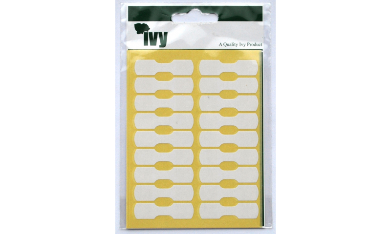IVY White Rectangular Labels 90 per Pk 10x38mm
