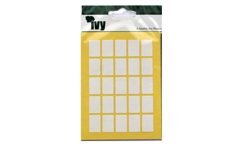 IVY White Rectangular Labels 175 per Pk 12x18mm