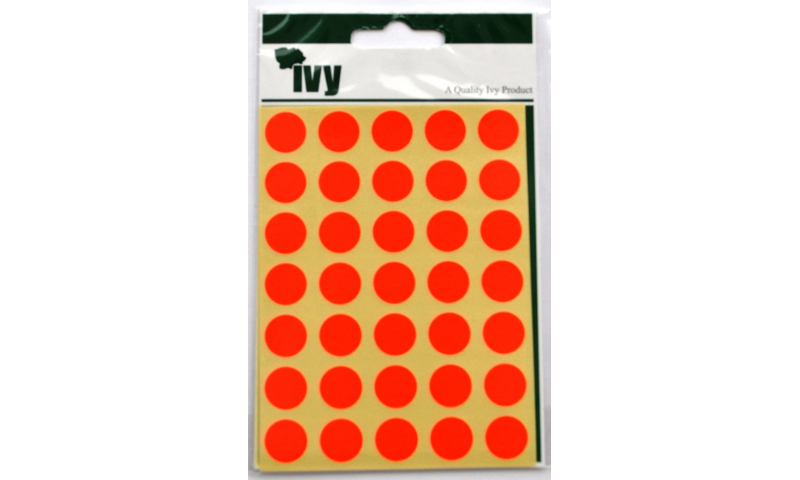 IVY Coloured Circular Labels 140 per Pack 13mm - Red