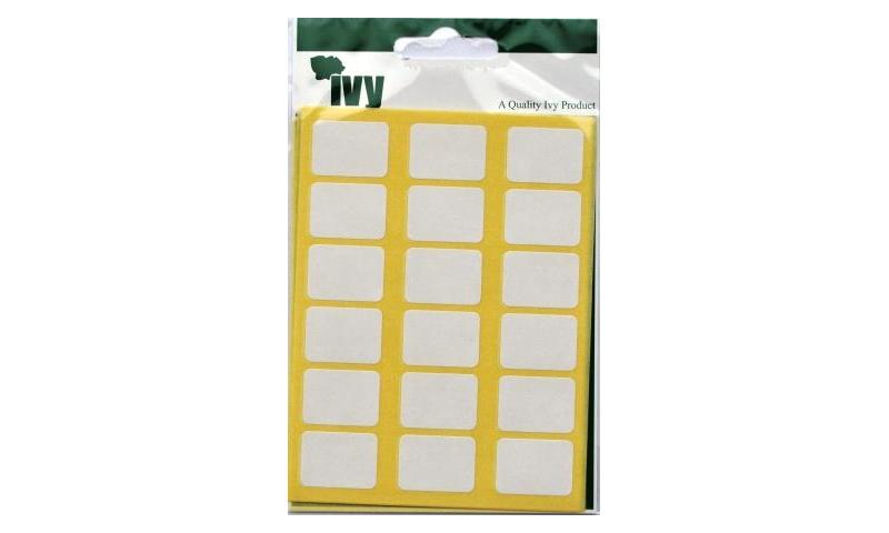 IVY White Rectangular Labels 126 per Pk 16x22mm
