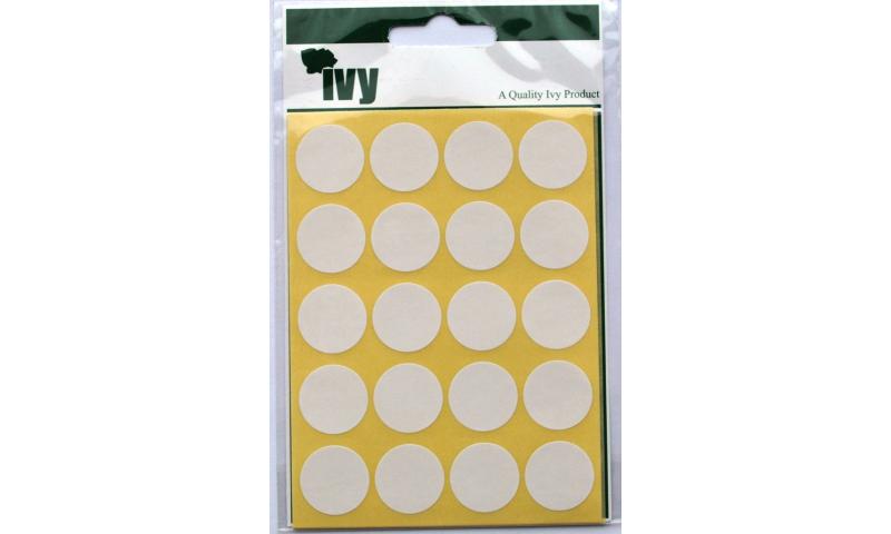 IVY White Circular Labels 140 per Pk 19mm