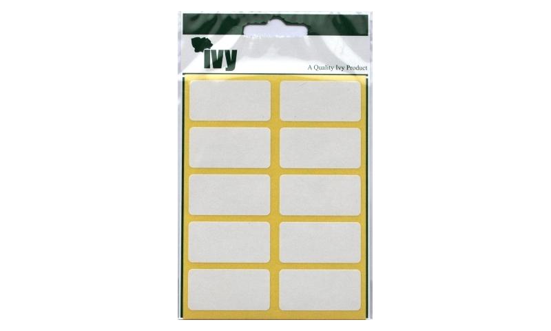 IVY White Rectangular Labels 70 per Pk 19x38mm
