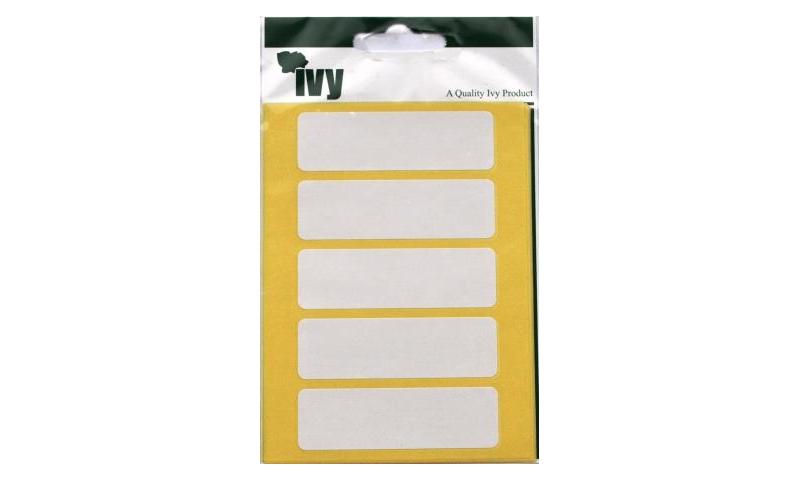 IVY White Rectangular Labels 35 per Pk 19x63mm