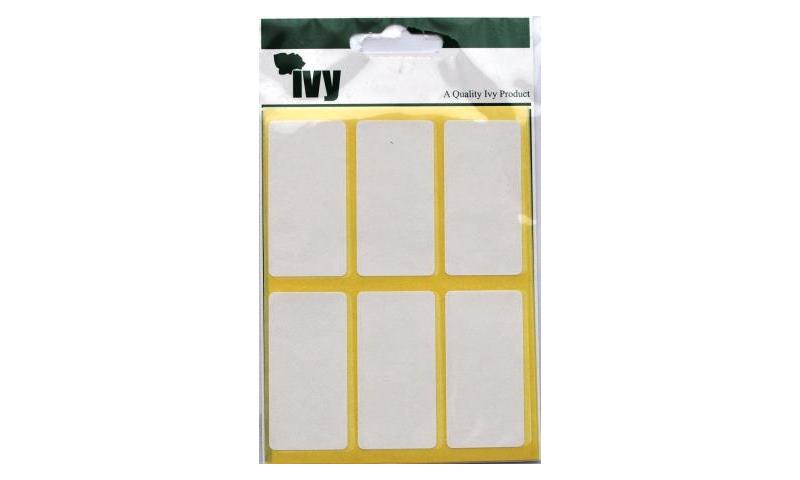 IVY White Rectangular Labels 42 per Pk 25x50mm