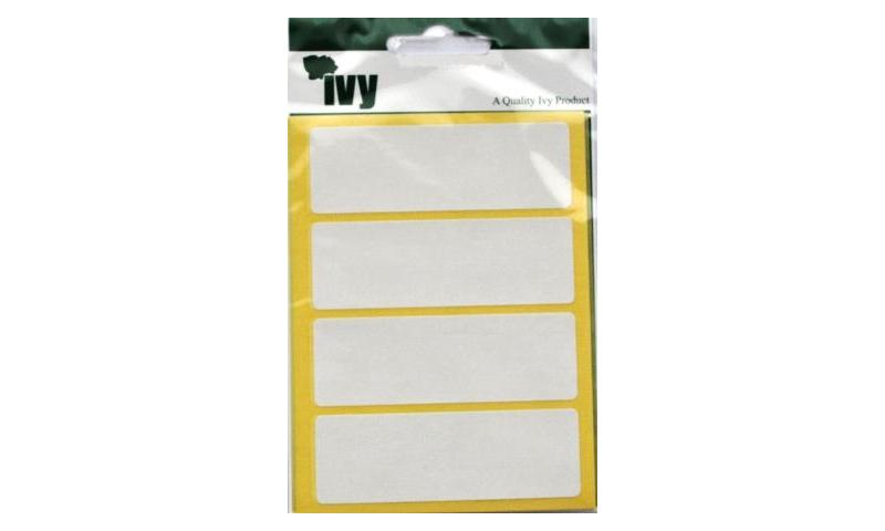 IVY White Rectangular Labels 28 per Pk 25x75mm