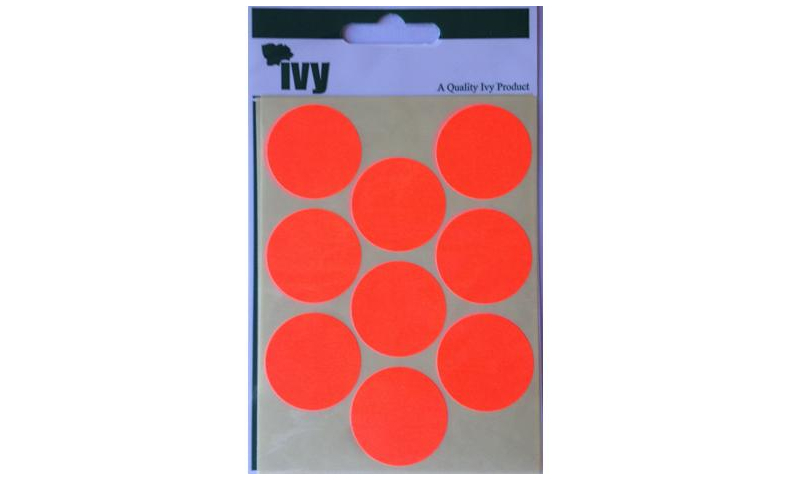 IVY Coloured Circular Labels 36 per Pack 29mm - Red