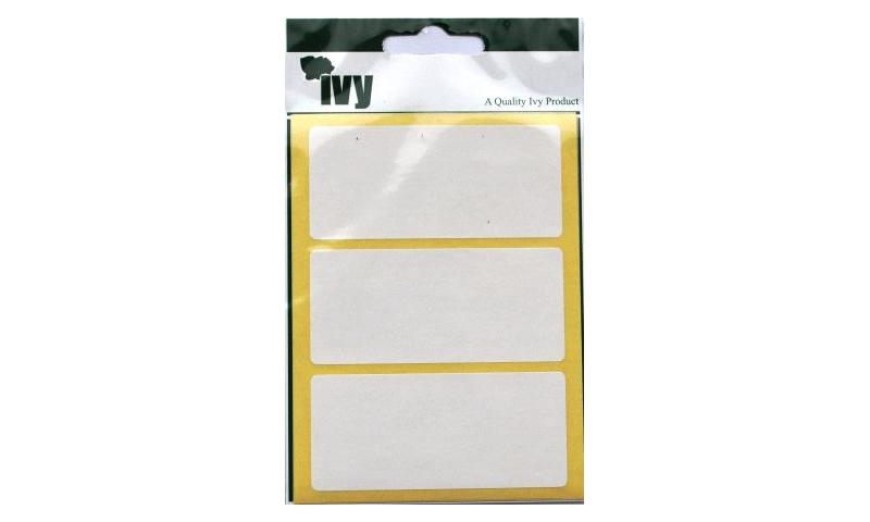 IVY White Rectangular Labels 21 per Pk 35x75mm